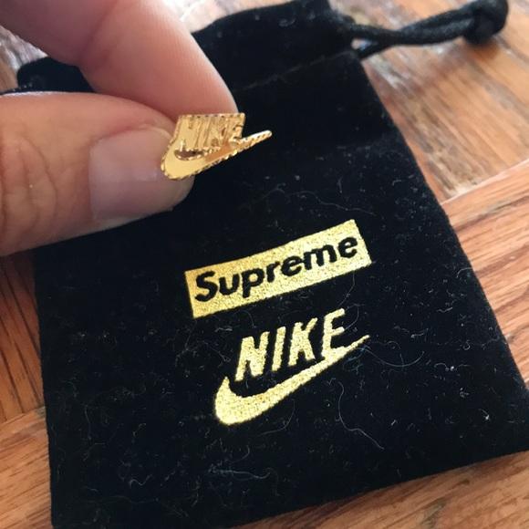 Supreme Nike 4k Gold Earring